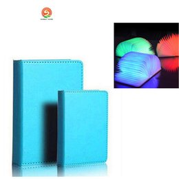 Wholesale Small Night Light Lamps - Creative Foldable Pages Led Book Shape Night Light Lighting Lamp Portable Booklight Usb Rechargeable (Small   Big size )