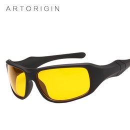 Wholesale anti glare driving glasses - Hot Sale Night Driving Glasses Anti Glare Glasses for Safety Driving Sunglasses Cycling Eyewear Yellow Lens Night Vision Goggles
