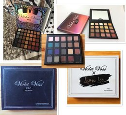 Wholesale Palette Metal - Violet Voss X Laura Lee Pro Limited Edition Drenched Metal Eye Shadow Palette REFOR 20 Color Eyeshadow Palettes free shipping