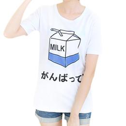 Wholesale Korean Cute Tops - Wholesale-2015 summer new women's t shirt wholesale Korean ladies tees cute milk printing female tops student short-sleeved loose T-shirt