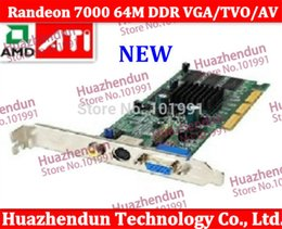 Wholesale Agp Free - Wholesale- 2pcs Brand New High Quality Sapphire ATI Randeon 7000 64M DDR VGA TVO AV AGP ATI ATI Randeon7000 Free shipping