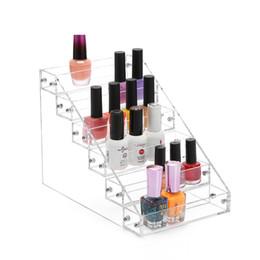 Новые прозрачные акриловые 6 слоев Лак для ногтей Rack Makeup Organizer Женщины Косметические инструменты Хранение Полка для помады Держатель ювелирных изделий Контейнер от