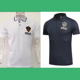 Wholesale Galaxy Uniforms - POLO SHIRTS LA GALAXY 2017 CUSTOMIZED soccer uniform kits soccer jerseys thai quality thailand quality football shirts kit