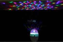 Wholesale E27 3w Colorful Rotating - E27 3W Colorful Rotating Party Light RGB 3 LED Spot Light Bulb Lamp Torch Lighting for Chrismas Party