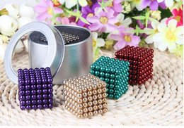 Wholesale Magnetic 3mm - Creative Puzzle Magnetic Balls Neo Cube Magic Cube 3mm 216 pcs puzzle Best Kids Toys block Silver Color with metal box