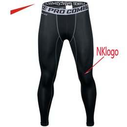 Wholesale Black Fitness Pants - NEW 2017 outdoor Pro Fitness pants man running training pants quick-drying moisture breathable compression basketball tight trousers