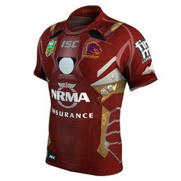 Wholesale El Shirt Iron Man - Brisbane Broncos 2017 Marvel iron man jersey Rugby Jerseys Shirts Special Edition The pre-sale Top quality Chief Special Version Rugby