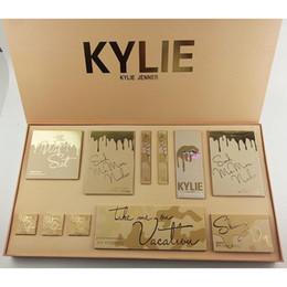 Wholesale Korean Cartoon Love - Kylie Summer Gift Box Take Me Love On Vacation Kyshadow Palette Kylie Jenner Liquid Lipstick Set Collection Cosmetics Bags Christmas Bundle