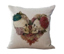 Wholesale Green Sofa Pillows - Halloween Mexican Sugar Skull Cushion(No inner)Decorative Throw Pillow Sofa Home Decor Almofada Cojines Decorativos Coussin