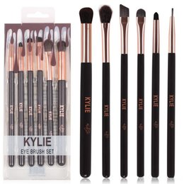 Wholesale Goat Hair Makeup Brushes Wholesale - HOT new Kylie Makeup Eye Brush Set 6 pieces Makeup Tools DHL Free shipping+GIFT