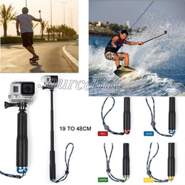 palos de plástico para selfie Rebajas 95 cm 4 colores a prueba de agua Monopod Selfie palo poste de mano para GoPro Hero 4 3+ 3 2 1 cámara 19-48 cm paquete al por menor envío gratuito