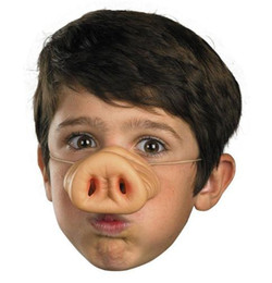 Wholesale Pig Decor - Halloween Pig Nose Fancy Dress up Costume Props Fun Party Favor Silicone Party Mask Supplies Decor