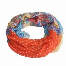 Wholesale Red Muffler - Wholesale-Fashion Women Leopard Bufandas Scarf Female Infinity Loop Collar Floral Scarf Printed Soft Long Zigzag Stripe Ring Muffler Scarf