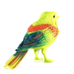 Wholesale Song Electronics - Voice Control Music Bird Toy Simulation Cute Sing Song Bird Toy Doll 2017 Funny Electronic Pet Cage Decoration Toys Morning Bird