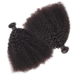 Brezilyalı Virgin İnsan Saç Afro Kinky Kıvırcık Dalga İşlenmemiş Remy Saç Örgüleri Çift Atkı 100 g / Paket 2 paket / grup Boyalı Ağartılmış Olabilir cheap afro kinky curly weave bundle nereden afro kinky kıvırcık örgü demeti tedarikçiler