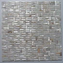 Wholesale Mosaic Tile Shapes - 10x20mm Semicolumn shape, brick pattern, natural color Mother Of Pearl shell mosaic , bathroom washroom wall tile; kitchen backsplash #MS129
