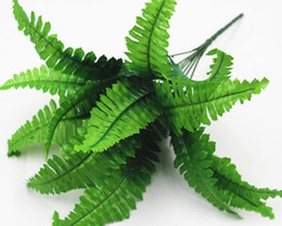 Wholesale manufacturers christmas decorations - Manufacturers selling wedding decoration flower leaf fern plants simulation Persian Persian grass leaves
