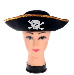 Wholesale Hats For Dresses - Pirate Hat For Kids Mens Womens Girls Caribbean Hats Fancy Dress Party Hat 10 p l