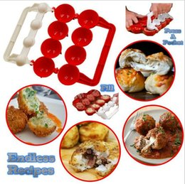 Wholesale Mold Fish - Newbie Meatballs Mold Stuffed Fish Meat Balls Maker ABS Homemade Mould DIY Kitchen Cooking Tools OOA2065