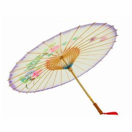Wholesale Sunshade Paper - Newly 84cm Chinese oiled paper umbrella Classical sunshade paper unbrella for cosplay decoration birthday gift free shipping