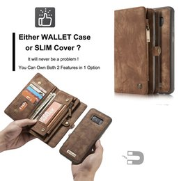 Wholesale Mobile Case Wallet - time-limited new brown wallet cases leather genuine full package card tpu case 2in1 for samsung s6edge s7dege s8 plus mobile phone cell
