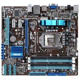 Wholesale Mini Motherboard Cpu - Free Shipping For Asus P7H55-M Original Motherboard Intel Socket LGA 1156 DDR3 16GB H55 For Core i3 i5 i7 Pentium CPU Desktop Motherboard