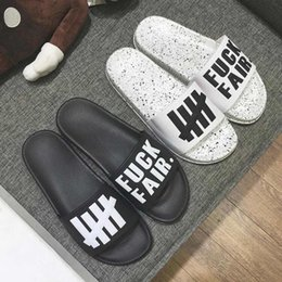 Wholesale Leather Soft Sole Slippers - The Original Undefeated Slippers Hip-Hop Slippers Lovers Indoor Home Slippers Genuine Leather Upper Material Non-Slip Soles Free Shipping