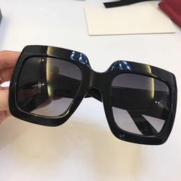 2019 marcos de gafas de marcas populares Popular de lujo marca mujeres gafas de sol diseñador 0053 verano generoso estilo cuadrado marco completo de calidad superior gafas de color sólido protección UV marcos de gafas de marcas populares baratos