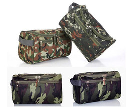 Wholesale Side Bags Men - Men and women bag organizer camouflage waterproof travel cosmetics makeup hanging storage bag with side tote 3 patterns