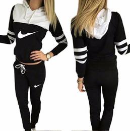 Wholesale Trousers Suits For Women - hot!!2017 women sportswear group sport suit women hoodie sweatshirt hooded + leisure trousers suitable for sports fitness yoga movement jogg