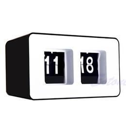 стильные часы Скидка Digital Clock Retro Classic Stylish Clock Auto Flip Modern Desk Wall Home Decor