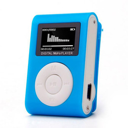 Wholesale Portable Screen Recorder - Wholesale- High Quality mini Clip MP3 Player Support 32GB Micro TF SD Card Slot Sports MP3 Music Player With Screen Portable Gife