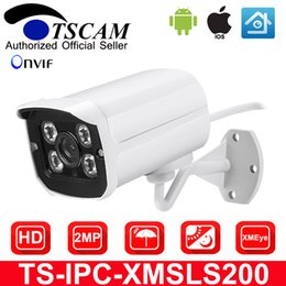Wholesale Cctv Led Board - TSCAM Aluminum Metal Waterproof Outdoor Bullet IP Camera HD 1080P Security Camera CCTV 4PCS ARRAY LED Board ONVIF P2P