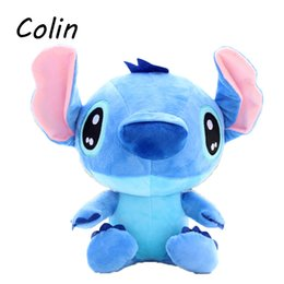 Wholesale Stitch Dolls For Sales - toy revolver 40cm Cute Stitch Plush Toys Kids Peluches Doll Stuffed Toys WJ413 toy garbage trucks for sale