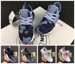 Wholesale Discount Socks Free Shipping - With Box+Free Shipping NMD XR1 Discount Cheap Duck Camo X City Sock Pk Wool Boost for High Quality Fashion Running Shoes Size 36-45