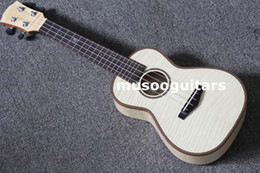 "Acoustique d'érable flammé en Ligne-24 ""Concert Ukulele Guitar Mini Acoustique Uke Handcraft Flame Maple Wood"