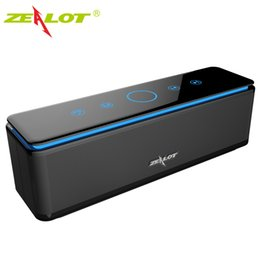 Wholesale Driver Control - Wholesale- ZEALOT S7 Speaker Touch Control Speakers Bluetooth Wireless 4 Drivers Audio Home Music Theatre 3D Stereo System Computer Phones