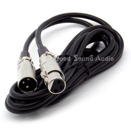 Wholesale Mic Cables Xlr - 3 Meter   10ft XLR 3 Male to Female Connector Wired Microphone Signal Audio Cable For Phantom Power Condenser Mic Karaoke Mixer Sing Stage