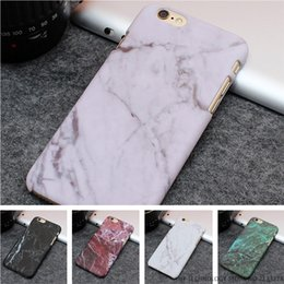 Wholesale Iphone Ultrathin Case Frosted - Hot Selling Fashion Marble Phone Cases Frosting Hard PC Case for iPhone 7 6 6S Plus 5 5S SE Ultrathin Stone texture Back Cover