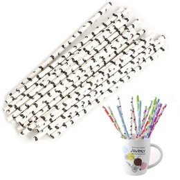 Wholesale Mustache For Party - Wholesale-25pcs lot Biodegradable Mustache Paper Drinking Straws for Kids Birthday Wedding Festival Party Decoration Supplies Straw