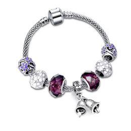 Wholesale Christmas Jingle Bell Bracelet Wholesale - 2017 Christmas Gift Luxury Vintage Silver Plated Beads Bracelet Jingle Bell Charm Bracelets & Bangles Fashion DIY Jewelry SL79