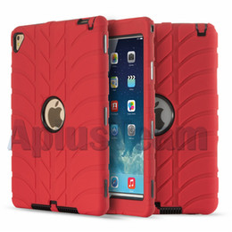 """Wholesale Protective Hard Case Tablet - Silicone Robot Armor Tablet PC Case For Apple iPad Pro 9.7"""" Cover 2 3 4 air2 Shockproof Dustproof Protective Hard Back Cases"""