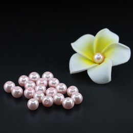 Wholesale Light Blue Pearl Necklace - Jewelry & Beading Supplies Light Pink Glass Pearl Beads, Pink Round Glass Beads For Necklace 4 6 8 10mm