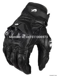 Оптово-Бесплатная доставка AFS 6 Мужские кожаные гоночные перчатки Мотоциклетные защитные перчатки Школьные перчатки от