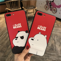 Wholesale Cute Silicone Cell Case - For iphone7 plus cell phone with iphone6s Cartoon cute support lanyard silicone protective cover wholesale factory price free shipping