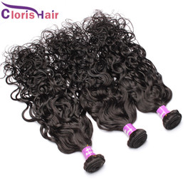 Wholesale Hot Water Hair Extensions - 3Pcs Wet & Wavy Peruvian Ocean Wave Human Hair Weave Bundles Hot Sale Texture Water Wave Remi Hair Extension Weft Grace Hair