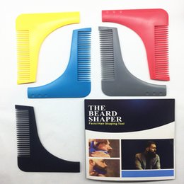 Wholesale New Curly - New Perfect Lines Symmetry Beard Bro Shaping Shaving Tool Comb