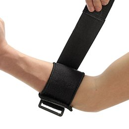 Wholesale Neoprene Wrap Fitness - Wholesale- Black Adjustable Tennis Fitness Elbow Support Strap Pad Neoprene Sport Golf Pain Forearm Support Strap Band knee Wraps Pad