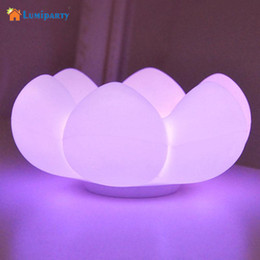 Wholesale Table Lamp Led Flowers - Wholesale- LumiParty LED Night Light Succulents USB Rechargeable Table Lamp Silicone Floral Touch Control Lamp Light Fleshy Flower Storage