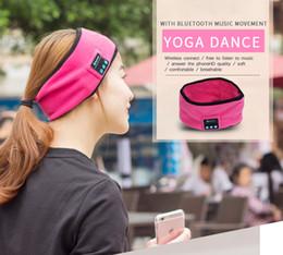 Wholesale Fitness Mic - Wireless Bluetooth Music Sport Headband Speakers Mic Hands Free Headphones Headset Music Headsets Earphone Running Yoga Fitness Headbands